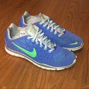 Nike blue and green sneakers